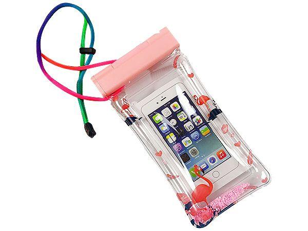 透明流沙充氣手機游泳防水袋(1入) 顏色隨機出貨【DS000821】