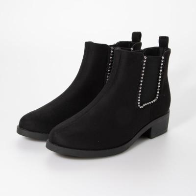 マフモフ Mafmof Realta(レアルタ)  ボールチェーンサイドゴア ブーツ (ブラック・スエード)