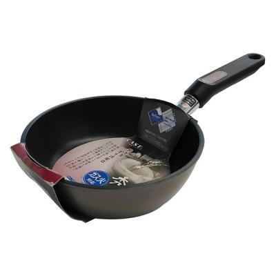 ベストコ ND-5211  ピンクグレー [テフロンプラチナ秀麗キャストフライパン(18cm)] 調理器具