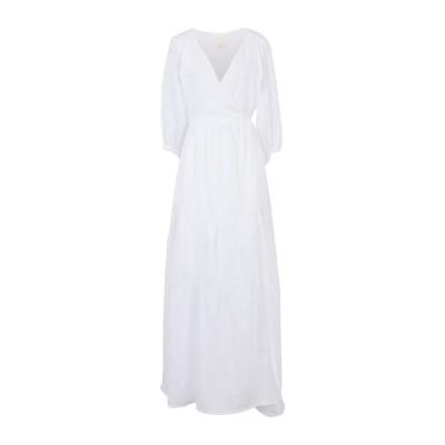 FRIDA ZAZOU ロングワンピース&ドレス ホワイト 38 麻 100% ロングワンピース&ドレス
