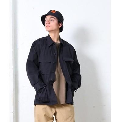 ジャケット ミリタリージャケット BLACK R/S B.D.U. JACKET