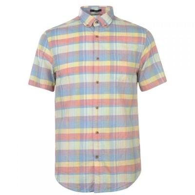 ガント Gant メンズ 半袖シャツ トップス Short Sleeved Mul Mdras Shirt Blue