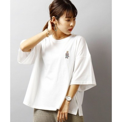 tシャツ Tシャツ 【BNS original】フロント プリント&刺繍 ルーズシルエットTシャツ womens