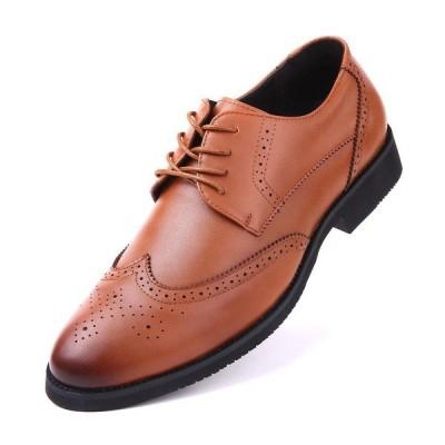 ミオマリオ ドレスシューズ シューズ メンズ Men's Speckled Wingtip Oxford Dress Shoes Dark Brown