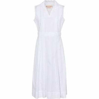 マルニ Marni レディース ワンピース ノースリーブ ミドル丈 ワンピース・ドレス sleeveless midi dress White