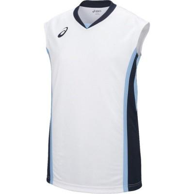 ネコポス対応 アシックス/asics バスケットボール レディース ゲームシャツ ユニフォーム XB2361 ホワイト×ネイビー(0150)