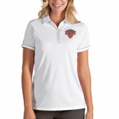 Antigua アンティグア スポーツ用品  Antigua New York Knicks Womens White/Silver Salute Polo