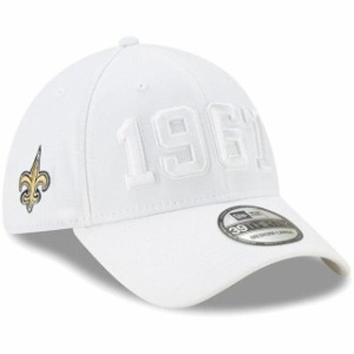 New Era ニュー エラ スポーツ用品  New Era New Orleans Saints White 2019 NFL Sideline Color Rush 39THIRTY Flex Hat