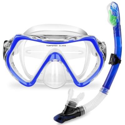 Flycreatスイミングゴーグル 子ども用 水泳 シュノーケルマスク くもり止め 水中メガネ 男女兼用 柔らかいシリコン 水漏れ防止 ベルト調節できる(国内出荷)