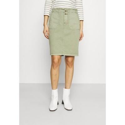 エスプリ スカート レディース ボトムス SKIRT - Mini skirt - khaki