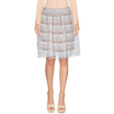SUNCOO ひざ丈スカート ホワイト 0 ポリエステル 100% ひざ丈スカート