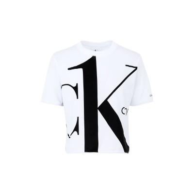YOOX - CALVIN KLEIN JEANS T シャツ ホワイト S コットン BCI 100% T シャツ