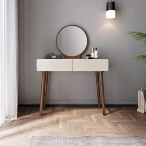 林氏木業簡約實木框亮光漆面化妝桌 BA2C