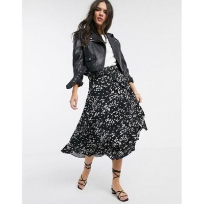 ウェアハウス Warehouse レディース ひざ丈スカート スカート daisy print belted midi skirt マルチカラー
