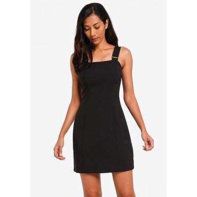 ザローラ ZALORA BASICS レディース パーティードレス ワンピース・ドレス Basic Pinafore Dress Black