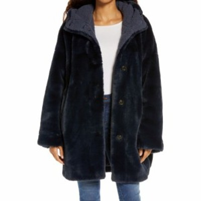 アグ UGG レディース コート ファーコート アウター Nori Oversize Faux Fur Coat Smoky Blue