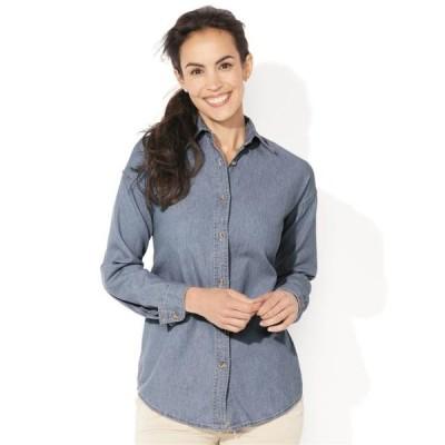 レディース 衣類 トップス Women's Long Sleeve Denim Shirt ブラウス&シャツ