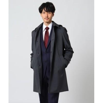 TAKEO KIKUCHI / 【Sサイズ~】メランジヘリンボンコート MEN ジャケット/アウター > ステンカラーコート