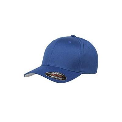 (Small / Medium, Royal Blue) - Adult Flexfit Woolly Combed Cap