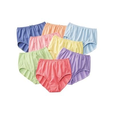 綿100%天竺ゴムが肌側にあたらない無地深ばきショーツ8枚組(S) スタンダードショーツ, Panties