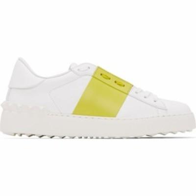 ヴァレンティノ Valentino レディース スニーカー シューズ・靴 White and Green Garavani Open Sneakers White/Cedar
