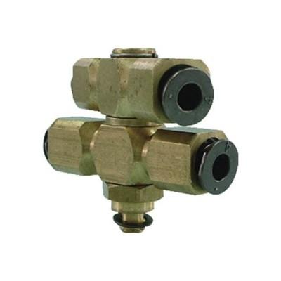 チヨダ フジダブルバンジョー(金属)4mm・M5X0.8 4-M5D2