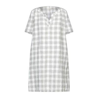 マッシモ・アルバ MASSIMO ALBA ミニワンピース&ドレス ホワイト S リネン 100% ミニワンピース&ドレス