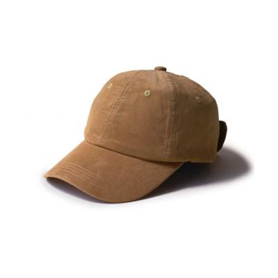(exrevo/エクレボ)キャップ レディース 帽子 リボン おしゃれ uv 深め コーデュロイ 無地 大きいサイズ  ローキャップ 大きめ かわいい/ユニセックス キャメル
