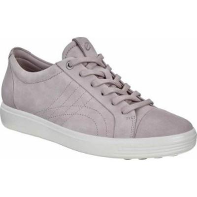 エコー レディース スニーカー シューズ Soft 7 Stitch Tie Sneaker Warm Grey Leather