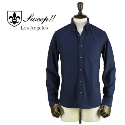 スウィープ ロサンゼルス Sweep!! LosAngeles  メンズ オックスフォード ステルス ボタンダウンシャツ Oxford Stealth NAVY(ネイビー)返品交換不可