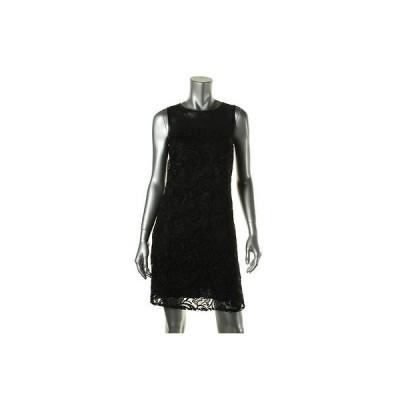 ドレス 女性  インク INC 8880 レディース ブラック Lace Faux レザー Trim Party Cocktail ドレス 8