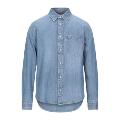 YOOX - CALVIN KLEIN JEANS デニムシャツ ブルー M コットン 98% / ポリウレタン 2% デニムシャツ