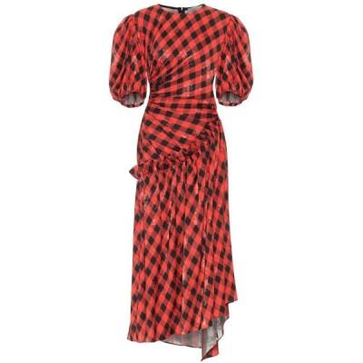 プリーン バイ ソーントン ブルガッジ Preen by Thornton Bregazzi レディース ワンピース Indy checked floral-jacquard dress Cherry Gingham