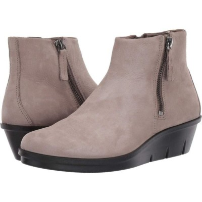 エコー ECCO レディース ブーツ シューズ・靴 Skyler Side Zip Bootie Warm Grey Cow Nubuck