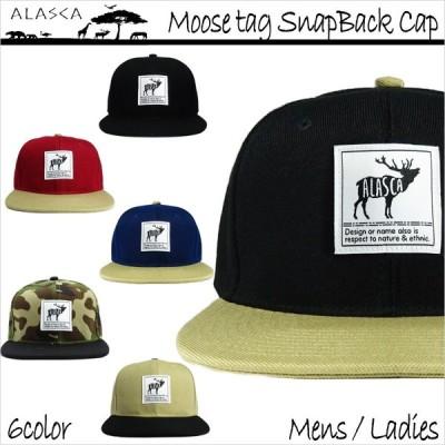 ALASCA 16-17 スナップバック キャップ スノーボード Moose メンズ レディース Moose tag SnapBack Cap メール便送料無料