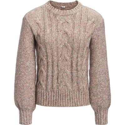 ベイスンアンドレンジ Basin and Range レディース ニット・セーター トップス Cable Knit Bell Sleeve Sweater Pink