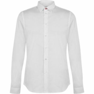 ポールスミス Paul Smith Tailoring メンズ シャツ トップス PS Sl Ctn Str Shrt Sn00 White
