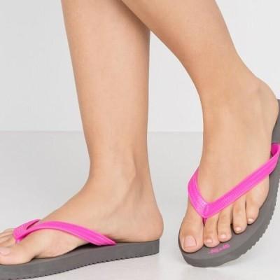 フリップフロップ レディース サンダル ORIGINALS NEO - Pool shoes - steel/neon lilac