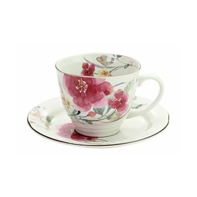 花ものがたり 12ヶ月コーヒー碗皿 花水彩 コーヒー碗皿 シュウメイ菊 60098
