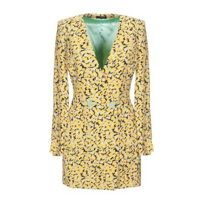 ELISABETTA FRANCHI ミニワンピース&ドレス イエロー 38 レーヨン 96% / ポリウレタン 4% ミニワンピース&ドレス