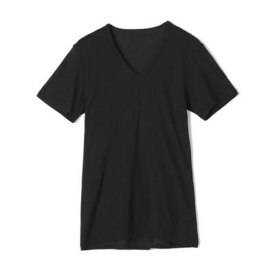 夏の快適インナー ボディクーラー セブンプレミアムライフスタル ボディクーラー メンズ 半袖V首シャツ クロ LL