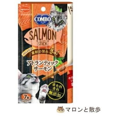 在庫処分 コンボ キャット サーモンスティック アトランティックサーモン 7本入 猫 おやつ ◆賞味期限 2021年6月