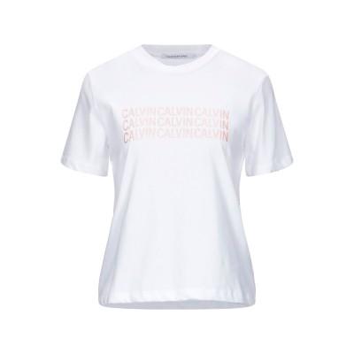 YOOX - CALVIN KLEIN JEANS T シャツ ホワイト S コットン 100% T シャツ