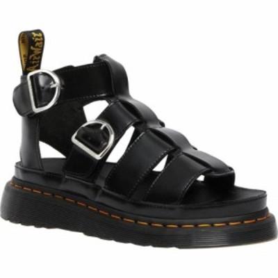 ドクターマーチン Dr. Martens レディース サンダル・ミュール シューズ・靴 Mackaye Sandal Black Buttero Full Grain Satin Gloss Leat