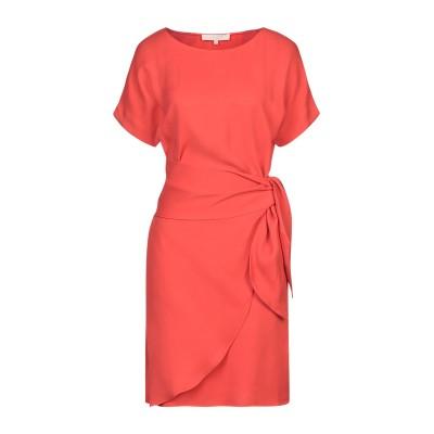 VANESSA BRUNO ミニワンピース&ドレス コーラル 34 レーヨン 100% ミニワンピース&ドレス
