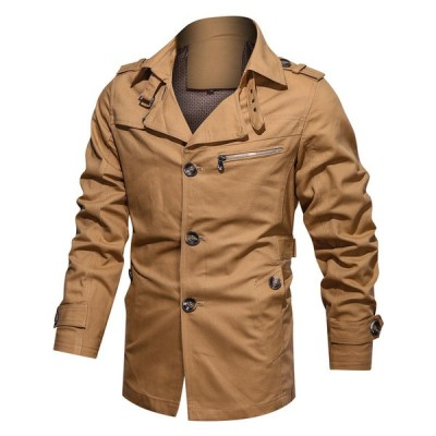 トレンチコート メンズ コート ジャケット アウター フード付き アウトドア カジュアル