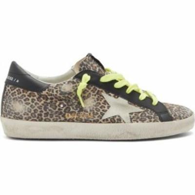 ゴールデン グース Golden Goose レディース スニーカー シューズ・靴 Superstar leopard-print suede trainers Beige