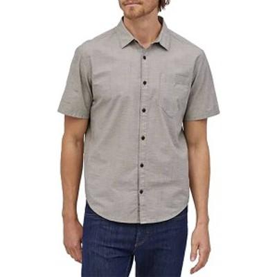 パタゴニア メンズ シャツ トップス Patagonia Men's Organic Cotton Slub Poplin Button Up Shirt End on End/Forge Grey