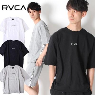 【30%OFF】RVCA ルーカ スウェット Tシャツ SMALL RVCA SWEAT TEE AJ041-003 ビックシルエット 半袖 オーバーサイズ カットオフ サイド テープ ロゴ