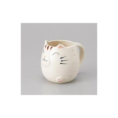 (業務用・カップ&ソーサー)白玉ネコマグ(入数:5)